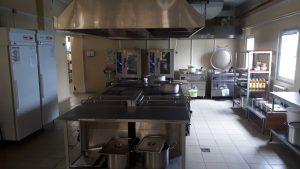 Модульное одноэтажное здание столовая кухня